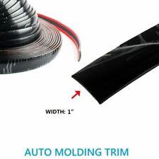 "Molding Trim 1"" Black Car Decorative Exterior Body Side Roof Door Strip 10Feet (Fits: Chrysler Concorde)"