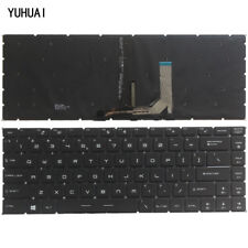 New for MSI GS65 GS65VR MS-16Q1 laptop black US English keyboard backlit