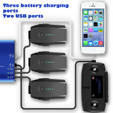 5 in 1 Rapid Battery Charger with 2 USB Ports Smart Charger for DJI Mavic Pro