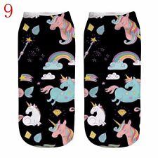 1 Pair Cotton 3d Print Art Casual Fashion Low Cut Ankle Socks 9