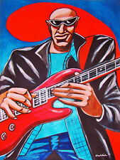 JOE SATRIANI PRINT poster Ibanez guitar surfing with the alien cd time machine