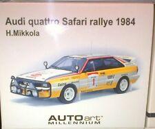 Audi Quattro LWB A2 Rallye 84' H.Mikkola #1-Yellow 1:18 SCALE AUTOart IN BOX