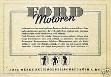 Ford Motoren Auto Orig. Reklame 1940 Industrie Landwirtschaft Gewerbe car ad