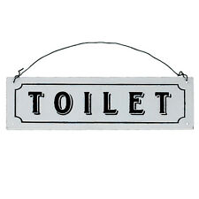 dotcomgiftshop TOILET METAL SIGN. HANGING WC DORR PLAQUE WITH PRE DRILLED HOLES