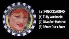 4  x PAULINE HANSON  - AUSTRALIA'S GREATEST PROPHET - DRINK COASTERS
