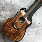 Chaylor K24ce Solid Koa Acoustic Guitar Natural wood color 41 inch K24 koa Cutaw
