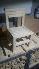 Children's chairs hand-made solid wood 1 piece