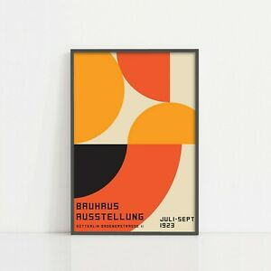 Bauhaus 1923 Exhibition Museum Retro Vintage Wall Art Poster Print