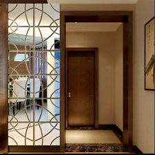 3D Mirror Geometric Hexagon Acrylic Door Windows Wall Sticker Home Art Decor DIY