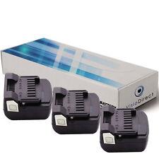 Lot de 3 batteries type BSL-1415X pour Hitachi 3000mAh 14.4V -Société Française-