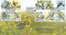 GB 2017 SONGBIRDS BUCKINGHAM COVERS 'FULL SET' OFFICIAL FDC - 50 NUMBERED COVERS