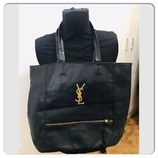 Vintage YSL Yves Saint Laurent perfume Black Big Tote Shoulder Bag