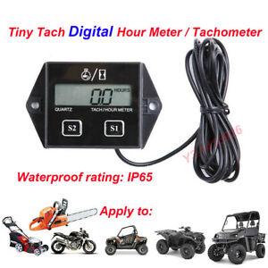 Tiny Tach Digital Hour Meter / Tachometer for Marine Spark Mower Engine Motor