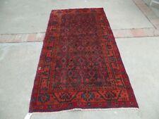 Handmade Persian Malayer Worn Rug