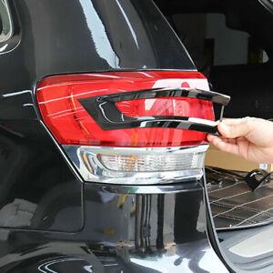 4pc For 2014-20 Jeep Grand Cherokee Gloss Black Tail Light Lamp Bezel Trim Cover