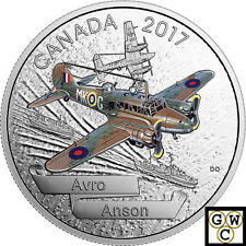 2017$20.9999FINE 1oz.SILVER–AIRCRAFT OF THE SECOND WORLD WAR:AVRO ANSON(17997)NT