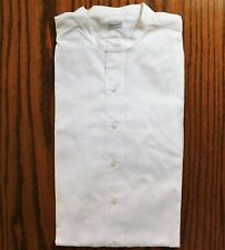 "Moss Bros mens tunic shirt UNUSED size 16.5"" vintage 1930s collarless"