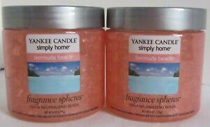 Yankee Candle Simply Home Fragrance Spheres Odor Beads Lot of 2 BERMUDA BEACH