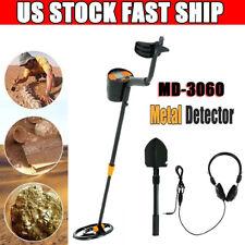 Lcd Metal Detector Deep Sensitive Gold Digger Hunter Waterproof Coil w/Headphone
