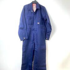 Vintage Hard Yakka Coveralls Mens W36 L32 Sanforised Blue Cotton Drill NOS