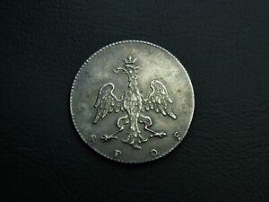 Silver 5 Kreuzer Medal price of Gymnasium Lycée ND 1776-1806 Frankfurt Rare SPQF