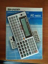 CALCULATRICE SCIENTIQUE PROGRAMMABLE SHARP PC 1403