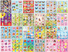 12 Sticker Sheets - Choose From 24 Designs - Party Bag Filler Pinata Toy Kids