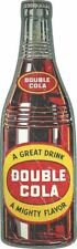 """DOUBLE COLA SODA POP DRINK BOTTLE 19"""" HEAVY DUTY USA MADE METAL ADVERTISING SIGN"""