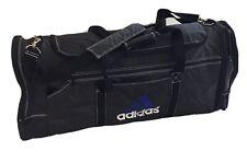 VTG 90s Adidas Equipment Jumbo Duffle Bag Weekender Black Blue Multi Logo