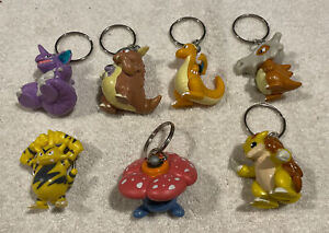 1999 Burger King Pokémon Key Chains Lot Of 7 Different As Seen FREE SHIPPING
