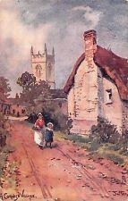 BR93398 a cornish village fotter painting postcard   uk