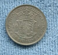 1928 Silver 2½ Shillings South Africa King George V  B-146