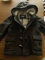 GAP Boys Size 5 Coat Brown Wool Duffle Jacket