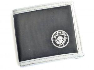 Manchester City Wallet Canvas Black Official Merchandise MUFC Money Wallet