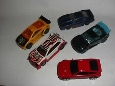 HOT WHEELS DIECAST  JOB LOT OF 5 RACE AND RALLY CARS 1/64TH SCALE