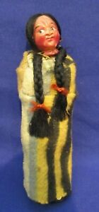Vintage Bully Good Native American The Great Indian Character Skookum Doll Woman