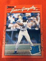 1990 ~ JUAN GONZALEZ #33 / Donruss Leaf Baseball Card ~ 'Rated Rookie' - NM-MT