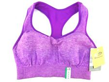 6ea5d80f63bd8 New Champion Seamless Racerback Sports Bra Med Support DUO DRY PURPLE XS M  XL