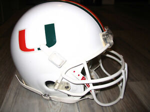 MIAMI HURRICANES football helmet- AUTHENTIC game-used