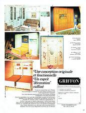 Publicité Advertising 088  1976   Griffon meubles lits -armoire