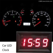 NEW 12V/24V Car Scooter Motorcycle Accessory Dashboard LED Display Digital Clock