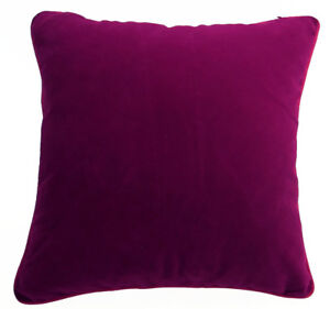 Mb61a Magenta Berry Pink Flat Velvet Style Cushion Cover/Pillow Case*Custom Size
