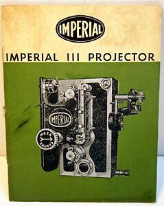 PLAQUETTE de présentation et d'emploi des projecteurs IMPERIAL (G.B.) - 35 mm
