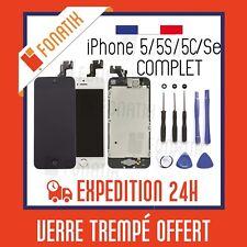 ECRAN LCD IPHONE 5 5S 5C 5SE COMPLET + VITRE TACTILE MONTE SUR CHASSIS + OUTILS