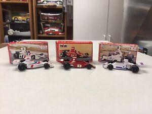 3 car lot 1:55 POLISTIL F1 racing cars #RJ2 Ferrari #RJ5 Brabham #RJ8 Hesketh