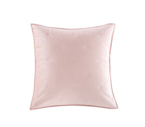 Better Homes & Gardens Velvet Embroidered X Stitch Euro  Sham Blush Pink