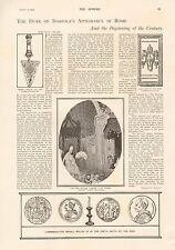 1901 ANTIQUE PRINT - DUKE OF NORFOLK'S APPEARANCE IN ROME, VATICAN