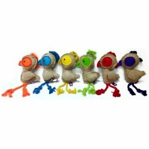 Multipet Twill Birds with Rope Legs- 14 inch (Free Shipping)