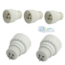 5Pcs MR16,GU5.3 To GU10 Base Socket Adaptor Converter For LED Light Bulb Lamp