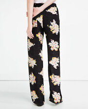 Zara High Regular Size Polyester Trousers for Women